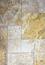 Fliese Travertin Naturstein gelb Fliese Römischer