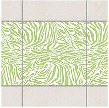 Fliesen Bordüre Zebra Design Spring Green 15x15