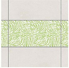 Fliesen Bordüre Zebra Design Spring Green 30x60