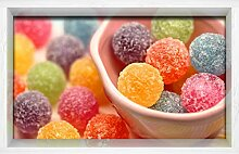 Fliesenaufkleber 3D Dreidimensionale Süßigkeiten