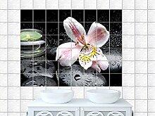 Fliesenaufkleber / Dekofolie für Badezimmer und Küche / Design: Massagesteine, Heilsteine, Wellness, Bildformat:120x80cm(BxH), Tile size: 15 x 20 cm (W x H)
