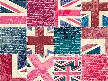 Fliesenaufkleber England 15x0,1x15 cm bunt