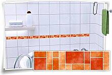 Fliesenaufkleber Fliesenbordüre Bordüre Mosaik
