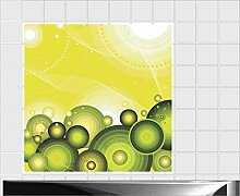 Fliesenaufkleber Fliesentattoos für Bad & Küche - Küchenfliesen - 60x60 cm - Fließen 20x10 cm - ME377 - Abstrakten Linien