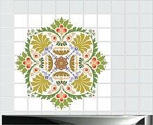 Fliesenaufkleber Fliesentattoos für Bad & Küche - Küchenfliesen 60x60 cm - Fließen 10x10 cm - MF008 - schönes Ornamen