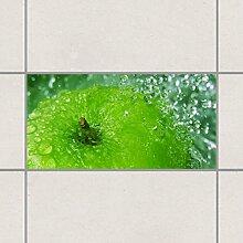 Fliesenaufkleber - Green Apple 30cm x 60cm, Setgröße:1teilig