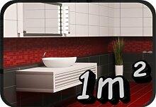 Fliesenaufkleber, Kachel Aufkleber Badezimmer Fliesen Aufkleber 1m² Freie Farb und Größenwahl