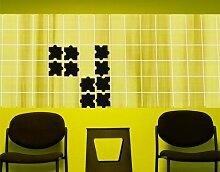 Fliesenaufkleber No.CG153 Zehn Puzzle Set Fliesen Küche Bad Puzzle Dekoration, Farbe:Schwarz;Fliesengröße:10cm x 10cm