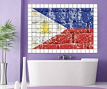 Fliesenaufkleber Philippinen Flagge Fahne Asien