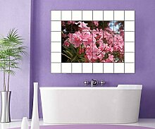 Fliesenaufkleber rosa Blumen 15 10 25 20 cm
