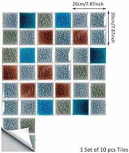 Fliesenaufkleber Selbstklebende Boden Mosaik
