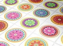 Fliesenaufkleber Wand Färbung Mandalas Deko