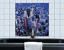 Fliesenbild Big Apple New York City Amerika Manhattan Metropole Empire State, Fliesengröße:20 cm x 20 cm;Größe:60cm x 60cm