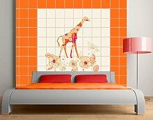 FliesenBild Floral Giraffe