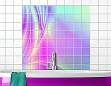 Fliesenbild Glossy Pastels Fliese Küche Bad Neon