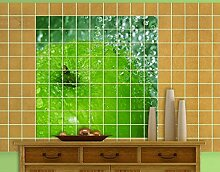 Fliesenbild Green Apple Frucht Süß Frühstück Küche Grün, Fliesengröße:20 cm x 20 cm;Größe:60cm x 60cm