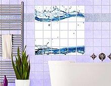 Fliesenbild Wasserwelten Fliese Küche Bad Wasser Dekoration, Fliesengröße:10 cm x 10 cm;Größe:120cm x 120cm