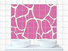 Fliesenbilder Fliesenaufkleber für Badezimmer Linien Muster Motiv Küchenfliese (Fliesengröße10x25cm (BxH)//Bildgröße 135x90cm (BxH))