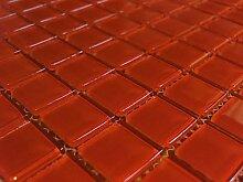 FLIESENTOPSHOP 1 qm - Glasmosaik Mosaik Fliesen Klarglas 4 mm rot bad dusche pool küche sauna