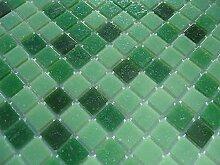 FLIESENTOPSHOP Glas-mosaik fliesen pool dusche bad mosaik grün hellgrün dunkelgrün sauna Mix