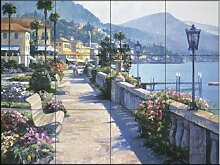 Fliesenwandbild - Bellagio Promenade - von Howard