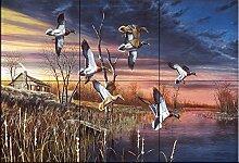 Fliesenwandbild - Endanflug - von Jim Hansel -