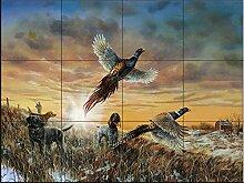 Fliesenwandbild - Eröffnung Day- von Jim Hansel -