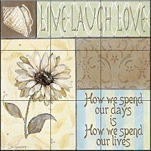 Fliesenwandbild - Leben Lachen-Liebe II - von Jo