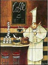 Fliesenwandbild - Luigi mit Latte- von Jennifer