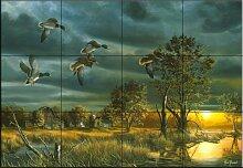 Fliesenwandbild - Morgen Mallards - von Jim Hansel