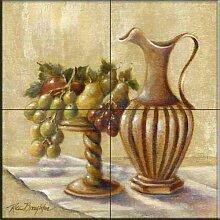 Fliesenwandbild - Obst mit Krug - von Rita