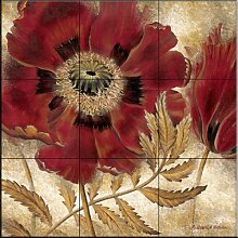 Fliesenwandbild - Red Poppy - von Richard Henson -