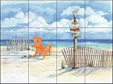 Fliesenwandbild - Strand Signs-Oceanview- von Paul