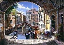 Fliesenwandbild - Torbogen Venedig - von Sam