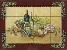 Fliesenwandbild - Tuscan Bounty mit Rand- von Rita