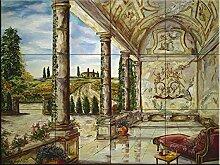Fliesenwandbild - Villa Angelica- von Karen Stene