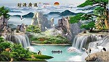 Fließend Wasser Diamant Malerei 5D DIY Chinesisch
