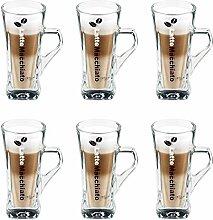 Flirt by R&B 691771 Latte-Macchiato-Becher, 330 ml, Glas, klar (6 Stück)