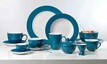 Flirt By R&B Geschirr-Serie Doppio petrol-blau