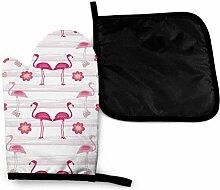 Flirty Flamingo Butterfly Cute Pink Mikrowelle