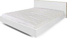 Float - Bett - 160x200  - Weiß/ Natur