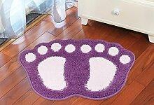 Flocking Fußauflage Türmatten Bad Bereich Teppiche , purple , 40x60cm