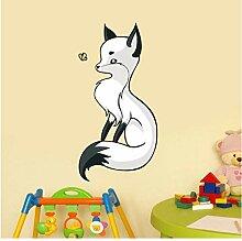 floolter Cute Fox Wandaufkleber Aufkleber Cute