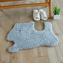 Floor blanket Absorbent personifizierten kreativen Wolldecke Apd, Türmatten, Schlafzimmer-Badezimmer-Matte der Kinder ( farbe : B , größe : 50*70cm )
