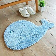 Floor blanket Absorbent personifizierten kreativen Wolldecke Apd, Türmatten, Schlafzimmer-Badezimmer-Matte der Kinder ( farbe : A , größe : 50*70cm )