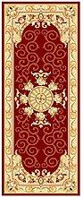Floor blanket Continental einfachen rechteckigen Teppich-Pad für Schlafzimmer, Nacht, Küche, Flur, Türrahmen, Aisle, Fenster-Matte, Roter Teppich ( größe : 0.6*1.8m )