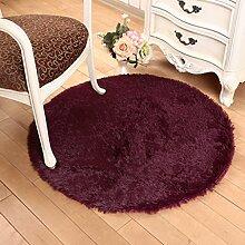 Floor blanket Europäische Rund Silk Wolldecke-Auflage für Wohnzimmer, Kaffee, Tisch, Teppich, Schlafzimmer, Bettvorleger Pad, Computerstuhl, Yoga-Matte, Teppich ( farbe : C , größe : 160cm )