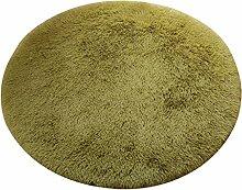 Floor blanket Europäische Rund Silk Wolldecke-Auflage für Wohnzimmer, Kaffee, Tisch, Teppich, Schlafzimmer, Bettvorleger Pad, Computerstuhl, Yoga-Matte, Teppich ( farbe : A , größe : 120cm )