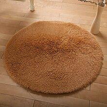 Floor blanket Europäische Rund Silk Wolldecke-Auflage für Wohnzimmer, Kaffee, Tisch, Teppich, Schlafzimmer, Bettvorleger Pad, Computerstuhl, Yoga-Matte, Teppich ( farbe : A , größe : 200cm )