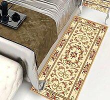 Floor blanket Europäische Simple Home Rechteckige Teppich-Pad für Schlafzimmer, Nacht, Küche, Flur, Aisle-Matte, Teppich ( farbe : A , größe : 0.8*1.5m )